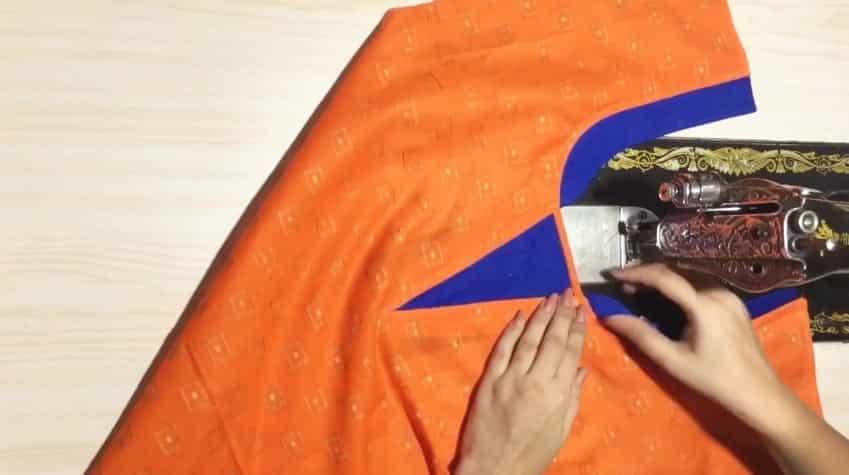 Kurtha Front Neck Design Cutting and Stitching 15
