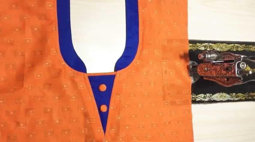 Kurtha Front Neck Design Cutting and Stitching 18