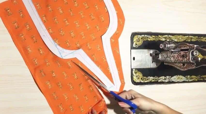 Kurtha Front Neck Design Cutting and Stitching 5