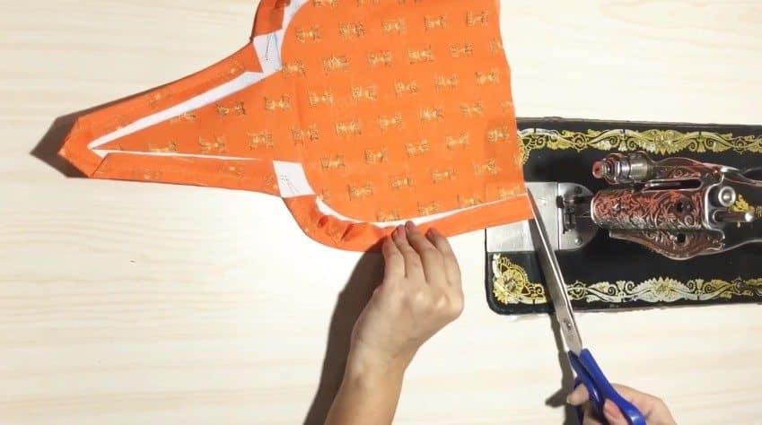 Kurtha Front Neck Design Cutting and Stitching 6