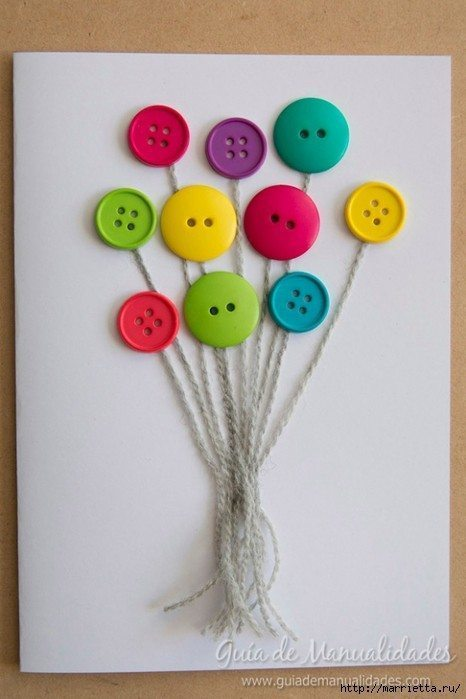 Cute Card with Balloons 5