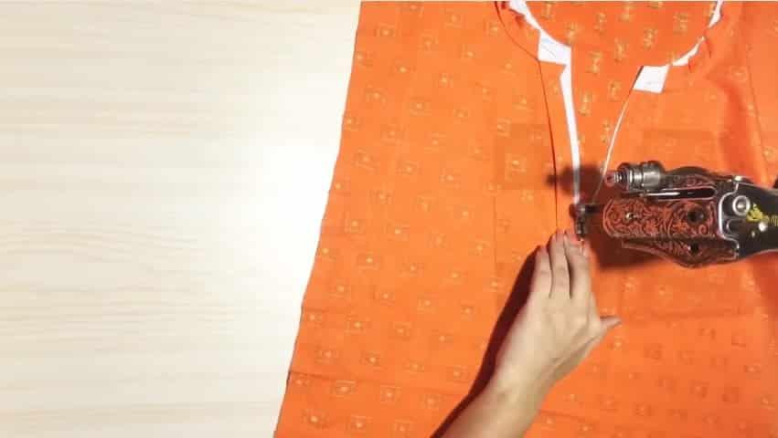 Kurtha Front Neck Design Cutting and Stitching 7