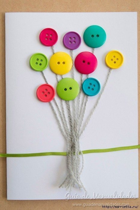 Cute Card with Balloons 6
