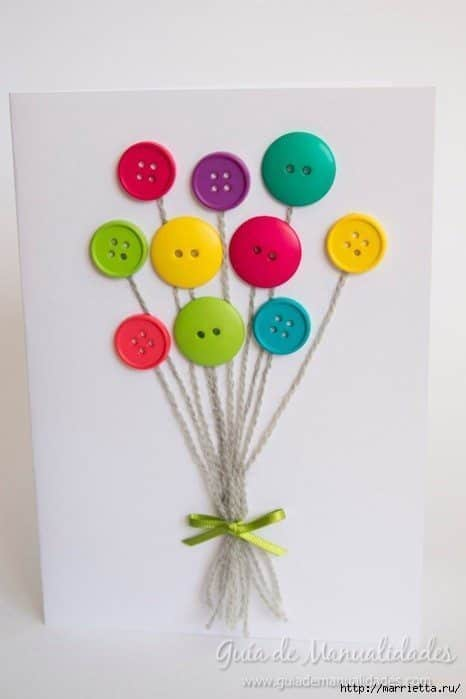 Cute Card with Balloons 7